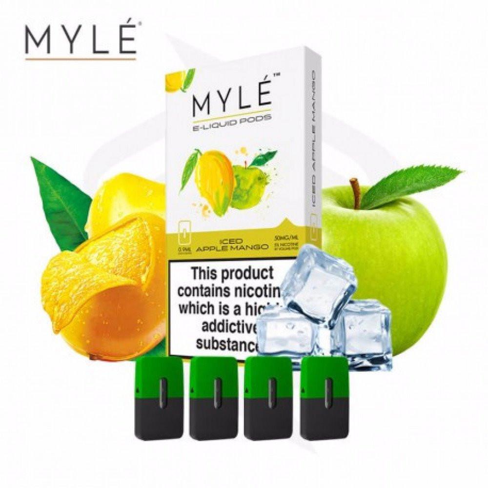 بودات مايلي تفاح مانجو آيس - MYLE PODS ICED Apple Mango