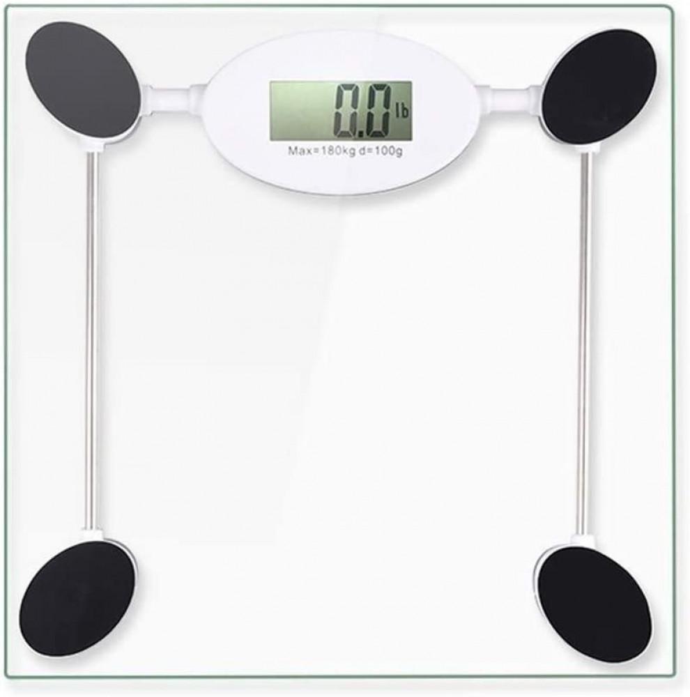 ميزان وزن الجسم رقمي عالي الدقة سطح زجاجي أنيق إلكتروني بمستشعر وشاشة