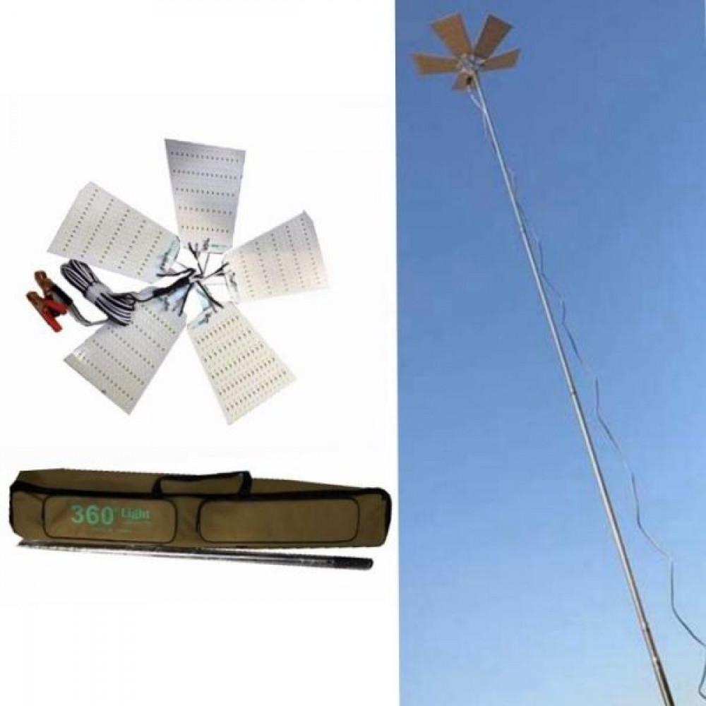 أضواء كشافات مصابيح التخييم سنارة قابلة للطي بإرتفاع 5 متر خمس شرائح