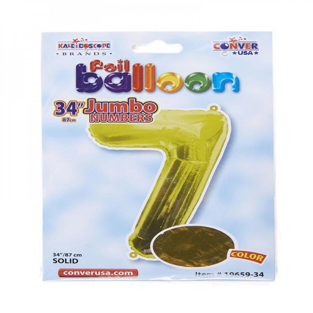 بالون ذهبي, بالون 7, Golden Balloon, بلونات أرقام