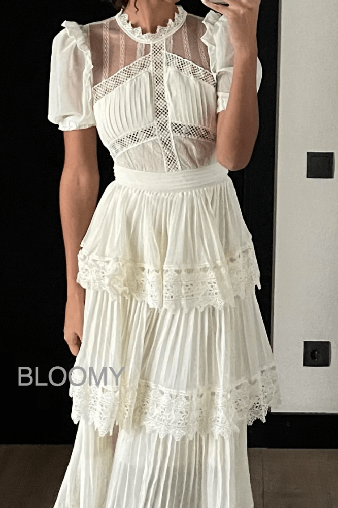فستان ابيض صيفي