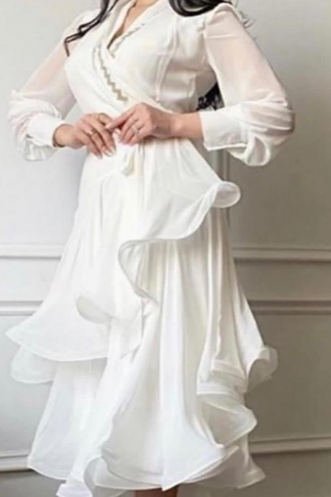 فساتين العيد  جذابه عرايس عروس عيد الفطر ابيض بنات