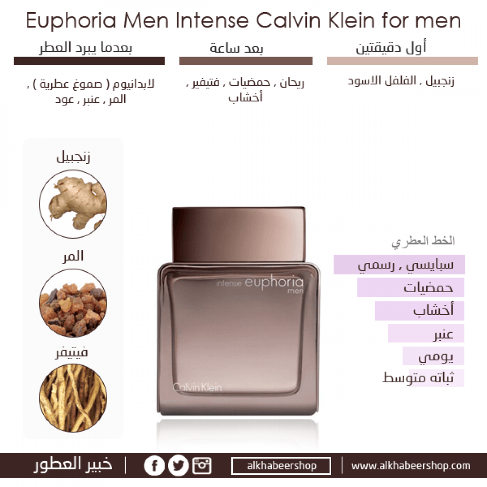 Calvin Klein Euphoria Intense for Men Eau de Toilette 50ml خبير العطور