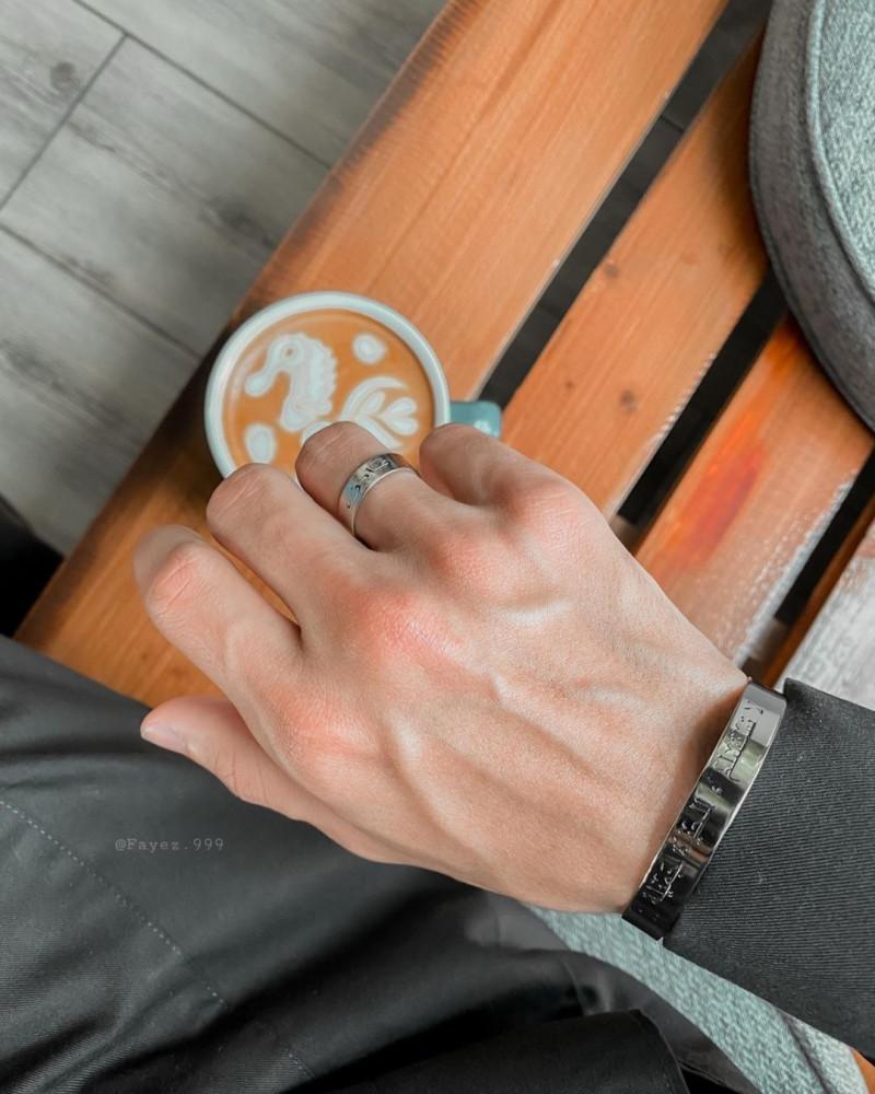 اسوارة مع خاتم رجالي حسب اختيارك - متجر راقية