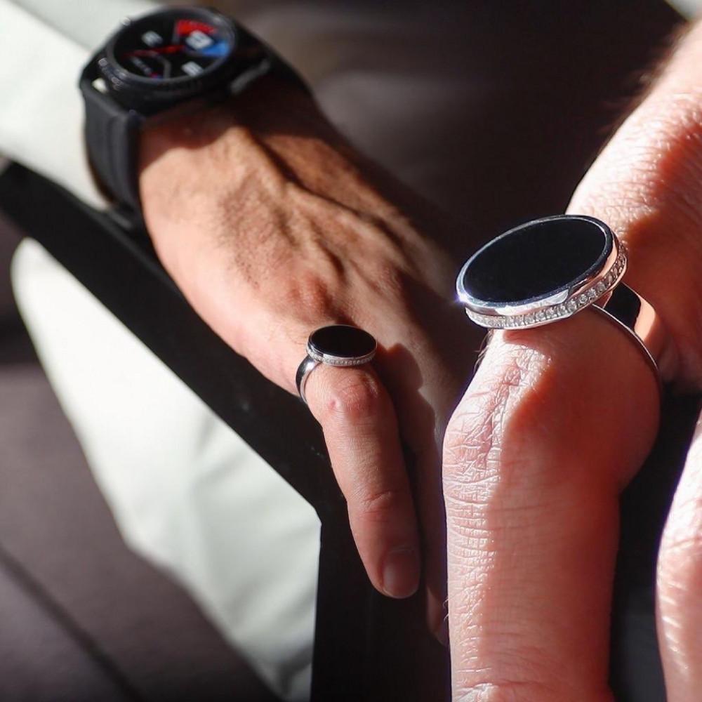خاتم ملكي فضة ايطالي عيار 925 - متجر راقية