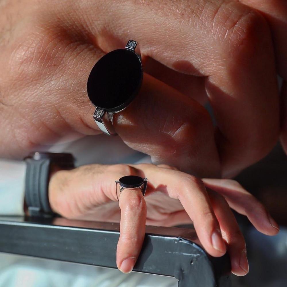 خاتم رجالي فضة عيار925 - متجر راقية