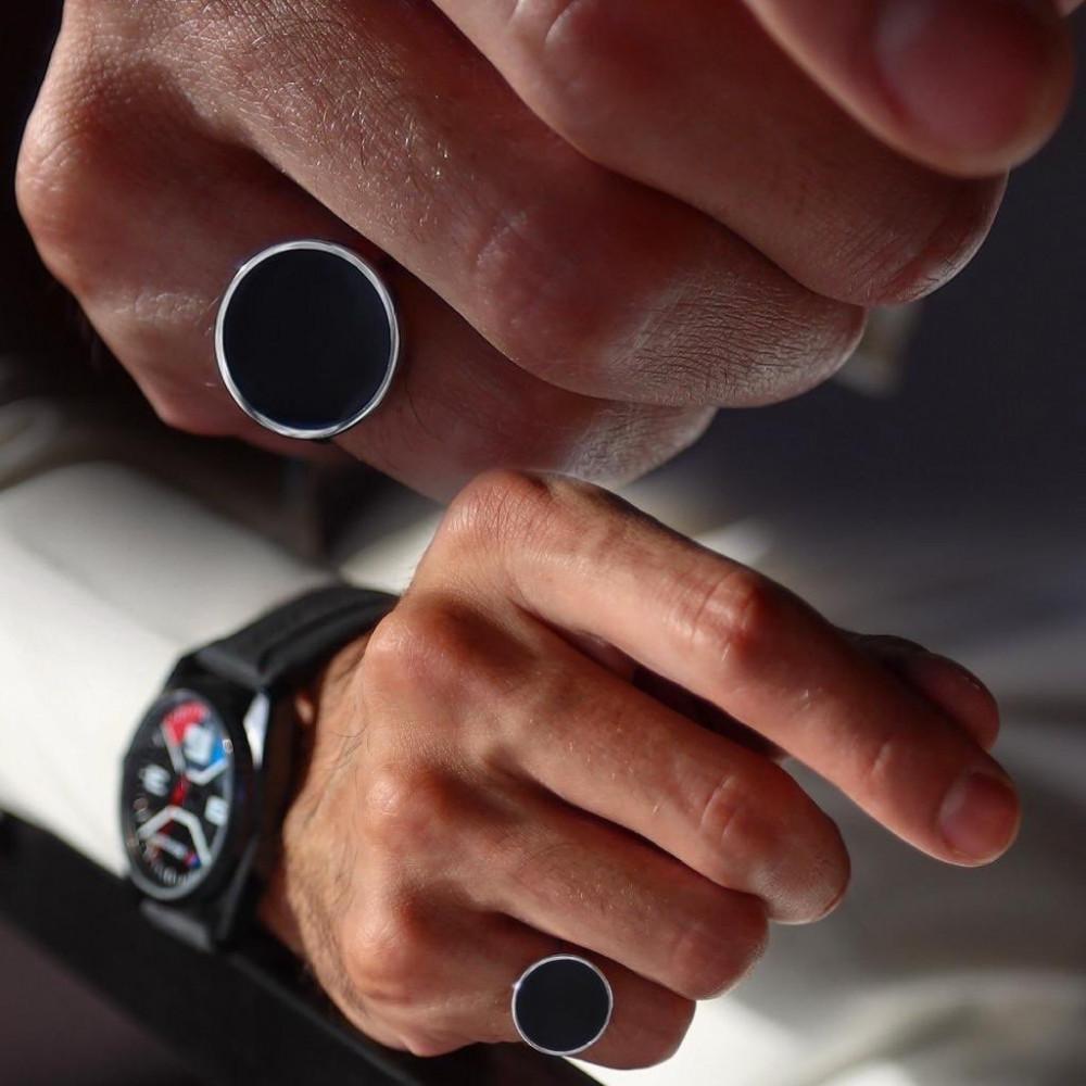 خاتم رجالي تصميم حسب الطلب - متجر راقية