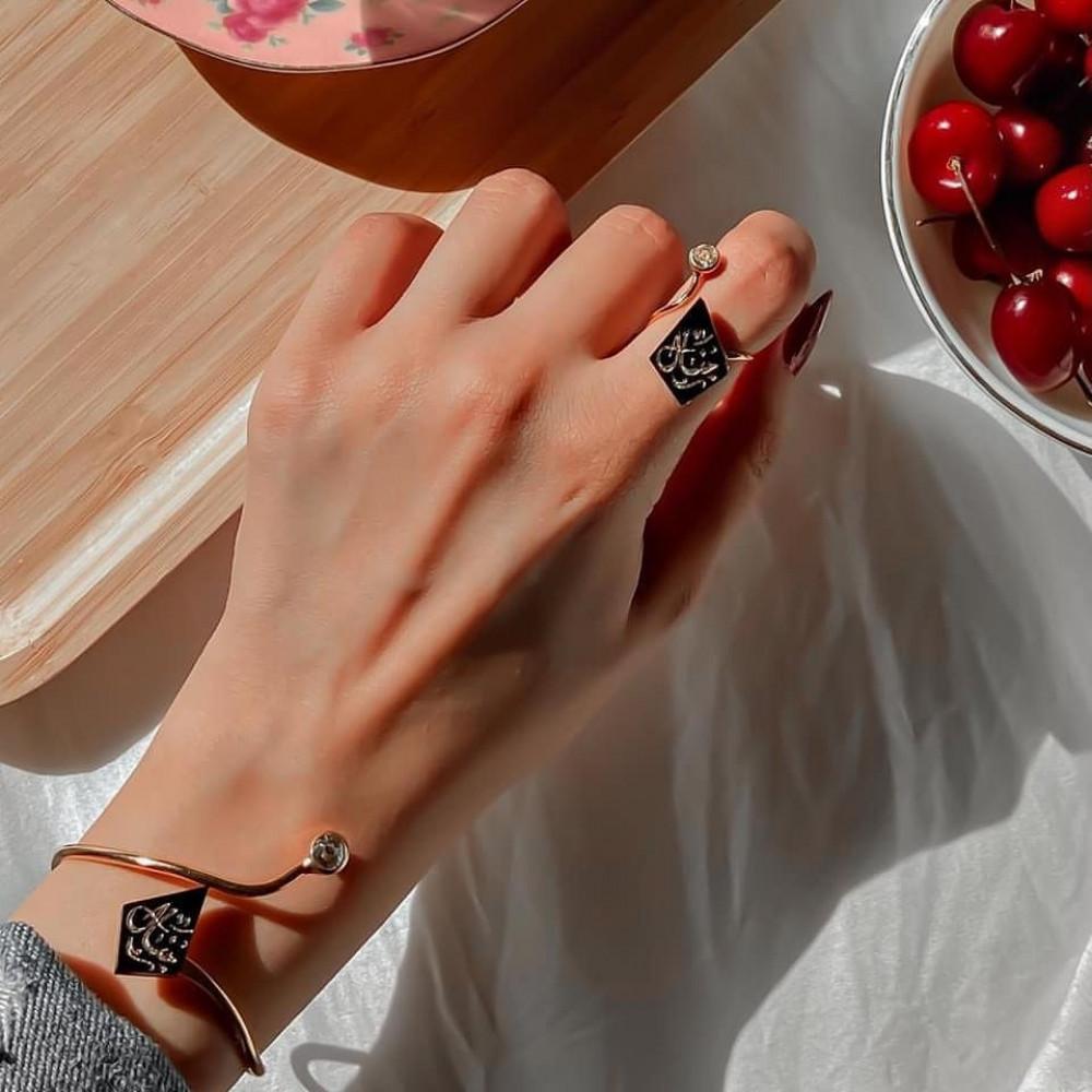 اسوارة مع خاتم الدايزك بالاسم - متجر راقية