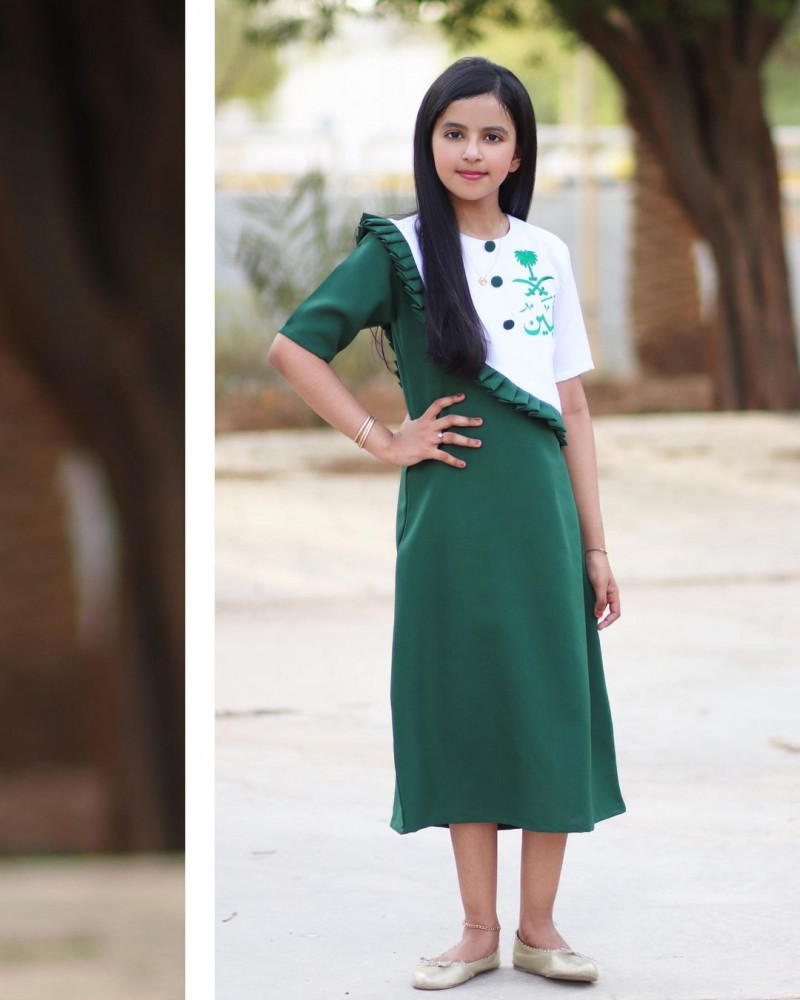 فستان كلاسيكي اخضر - متجر راقية