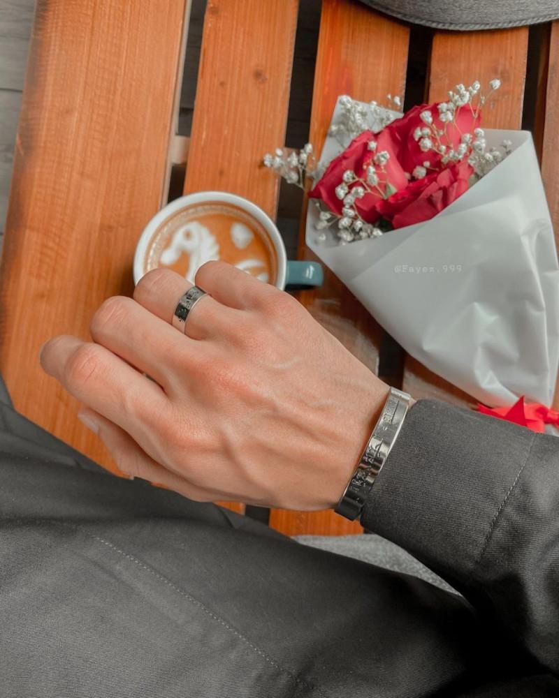 اسواره مع خاتم تصميم حسب الطلب - متجر راقية