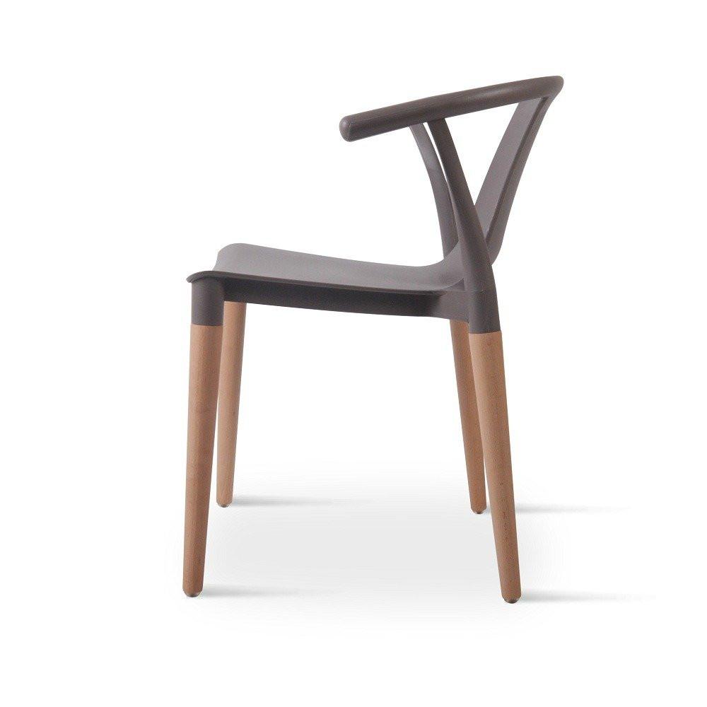 زاوية جانبية للكرسي في طقم كراسي رمادي ماركة نيت هوم من مواسم