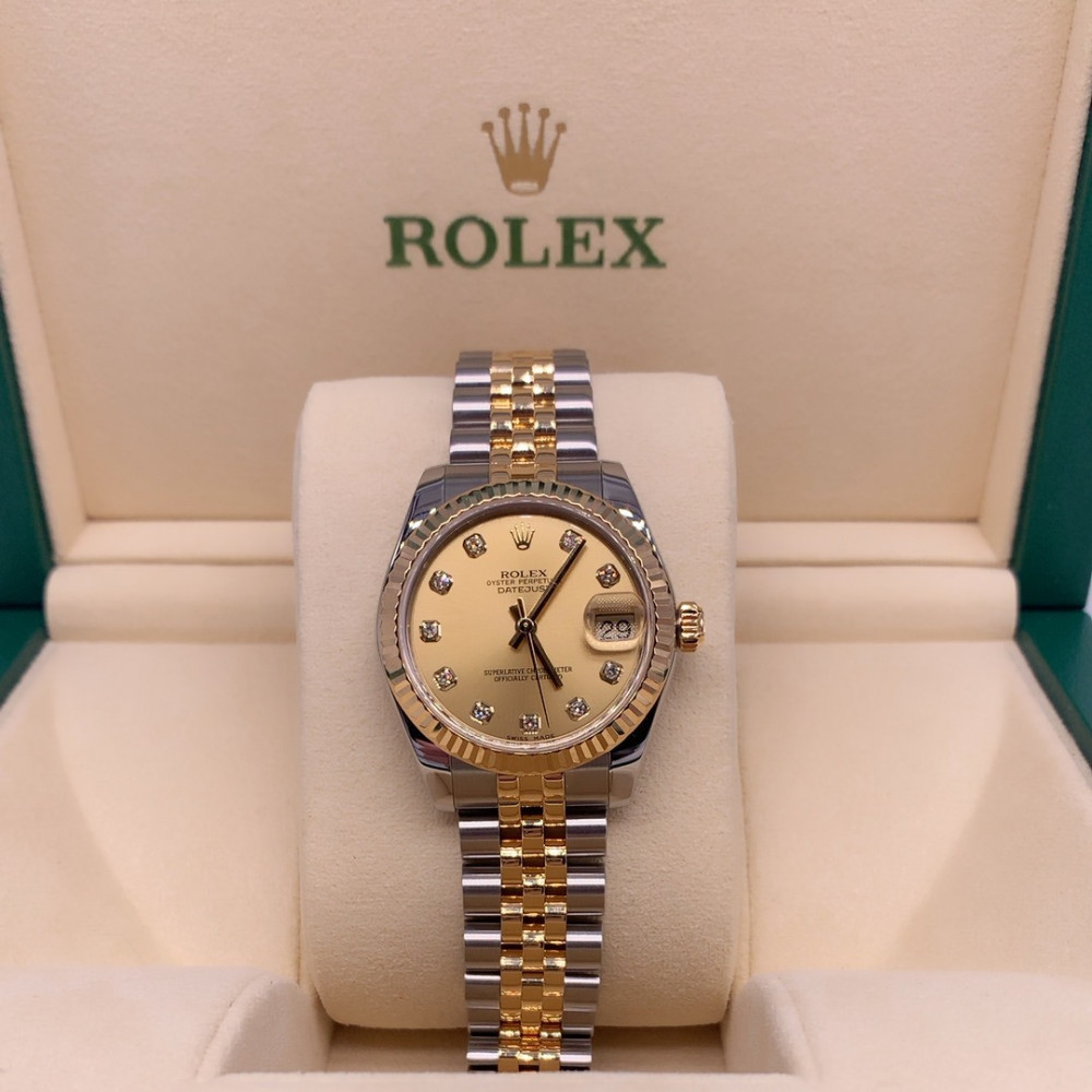 ساعة rolex ديت جست الأصلية فاخرة مستعملة
