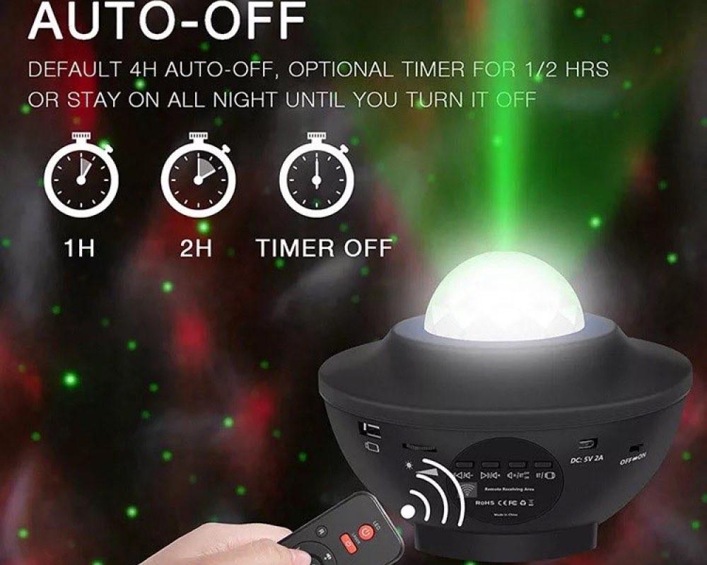 جهاز عرض ليلي ليزر مع ريموت وسماعة بلوتوث