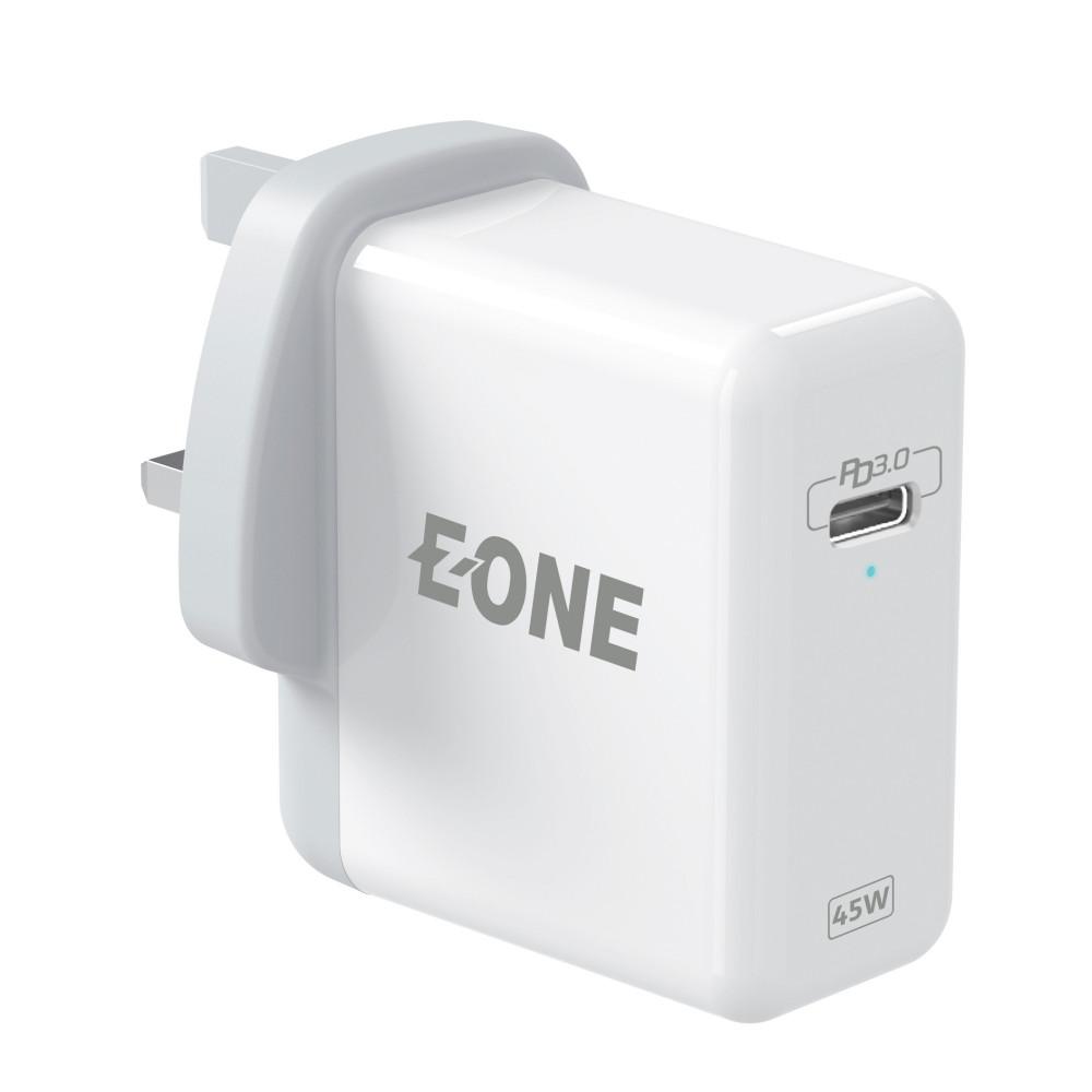 شاحن حائط من EONE بقدرة 45 وات مع دعم خاصية PD ومنفذ USB C يدعم لابتوب