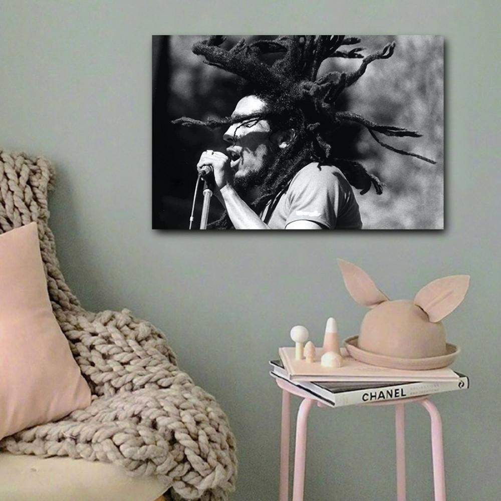 لوحة بوب مارلي خشب ام دي اف مقاس 40x60 سنتيمتر
