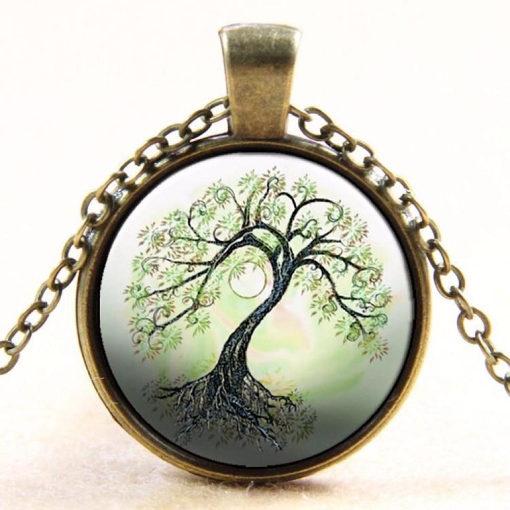 قلادة برونزية مطبوع بها شجرة الكابوشون
