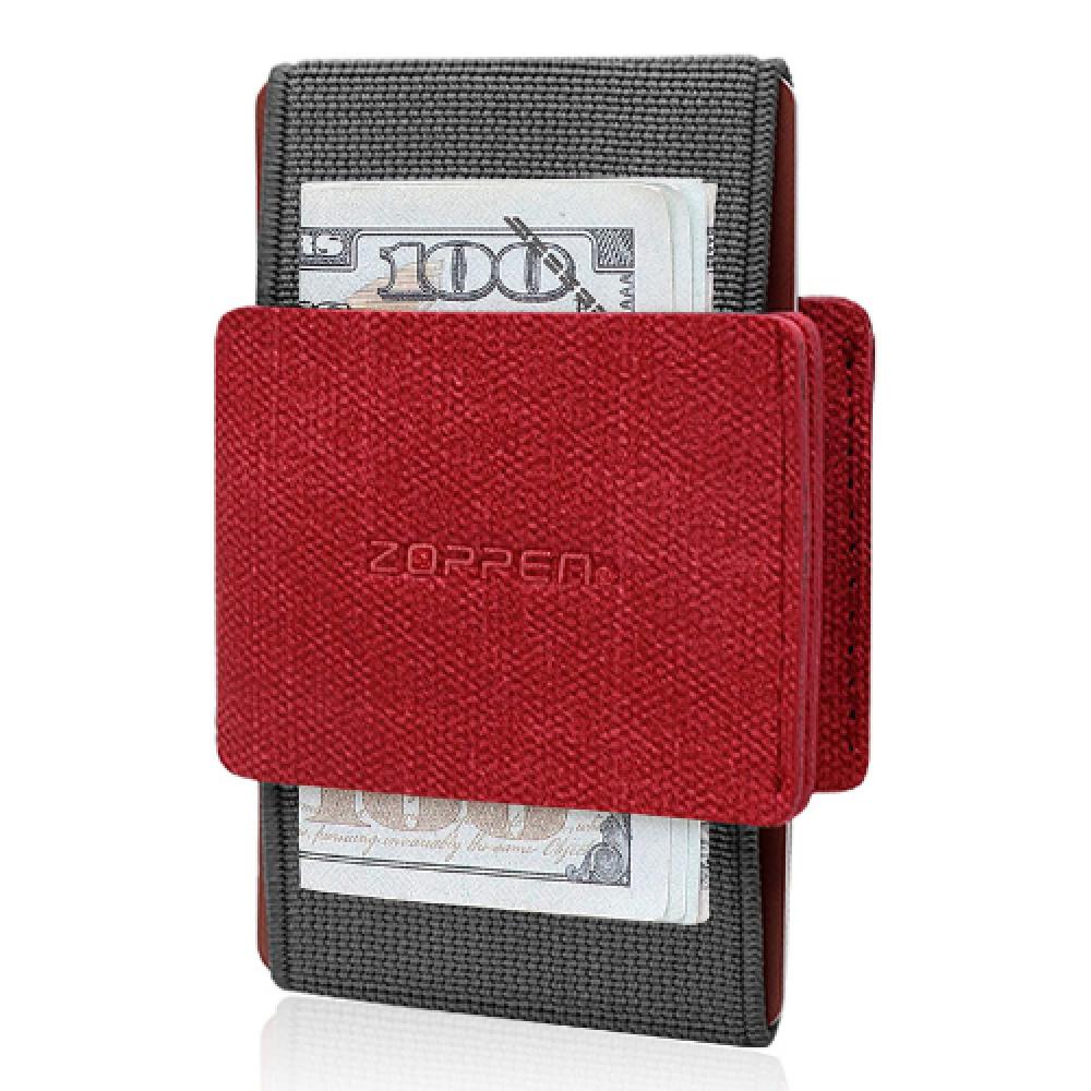 محفظة بطاقات Zoppen الرفيعة والمرنة - احمر - متجر أصلي
