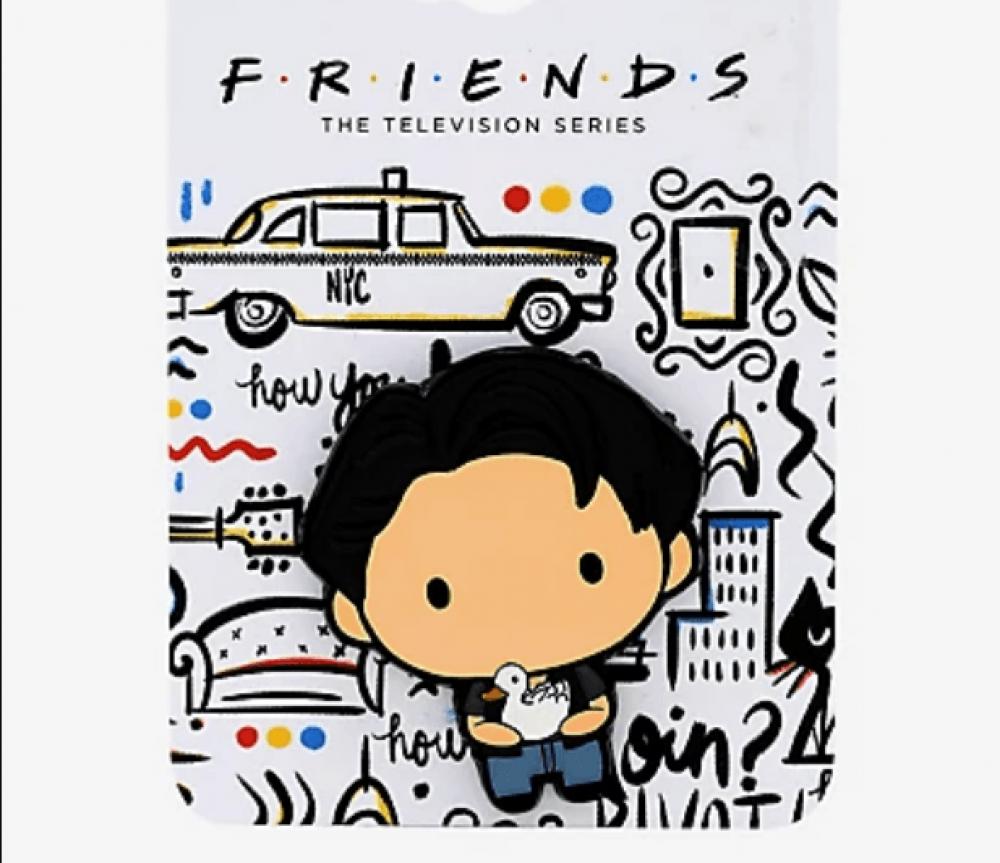 Friends Joey with Duck Chibi Enamel Pin