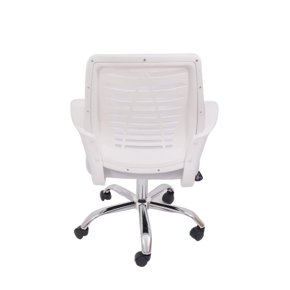 كرسي دوار شبك ابيض C-XY-671