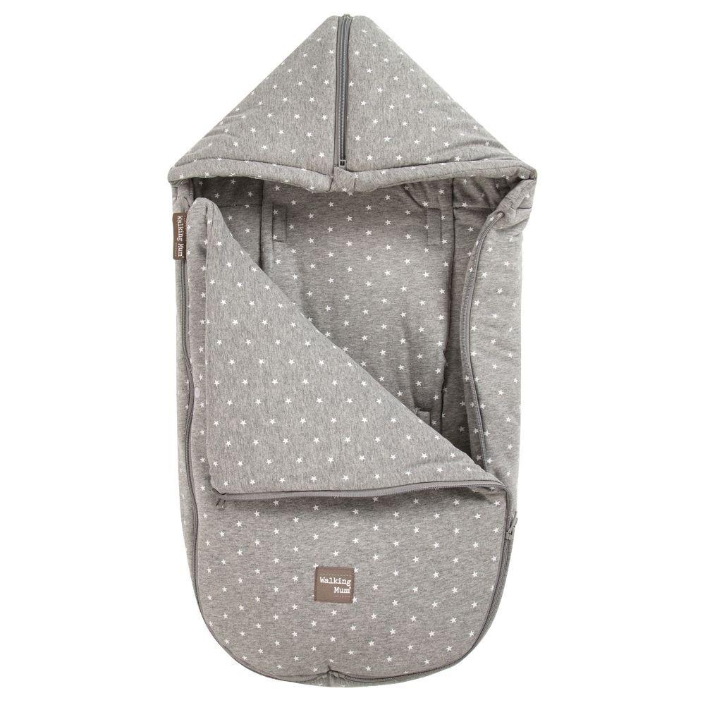 غطاء واقي من البرد لحديثي الولادة باللون رمادي فاتح من ماركة دوها