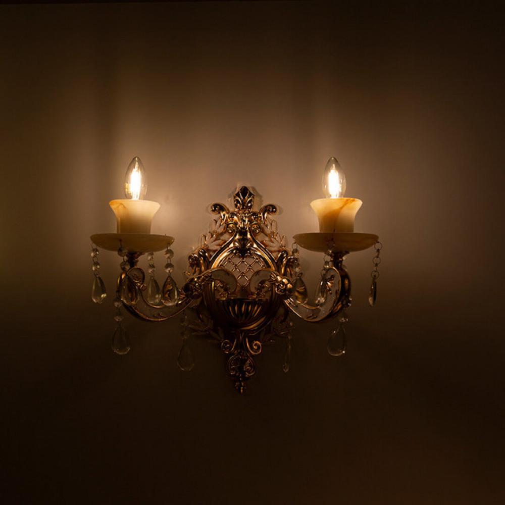 ثريا حائط مزدوجة بشكل شمعات كلاسيكية - فانوس