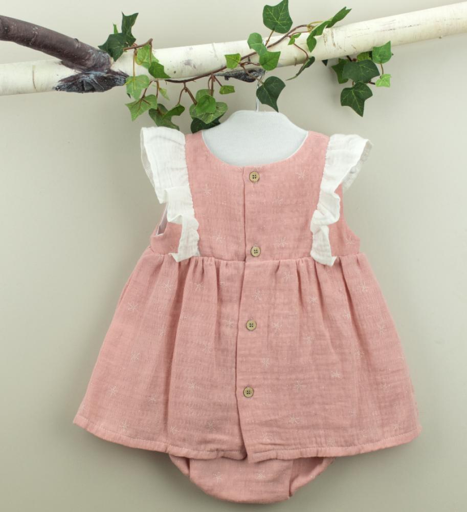 فستان أنيق باللون الزهري من ماركة Babidu من دوها