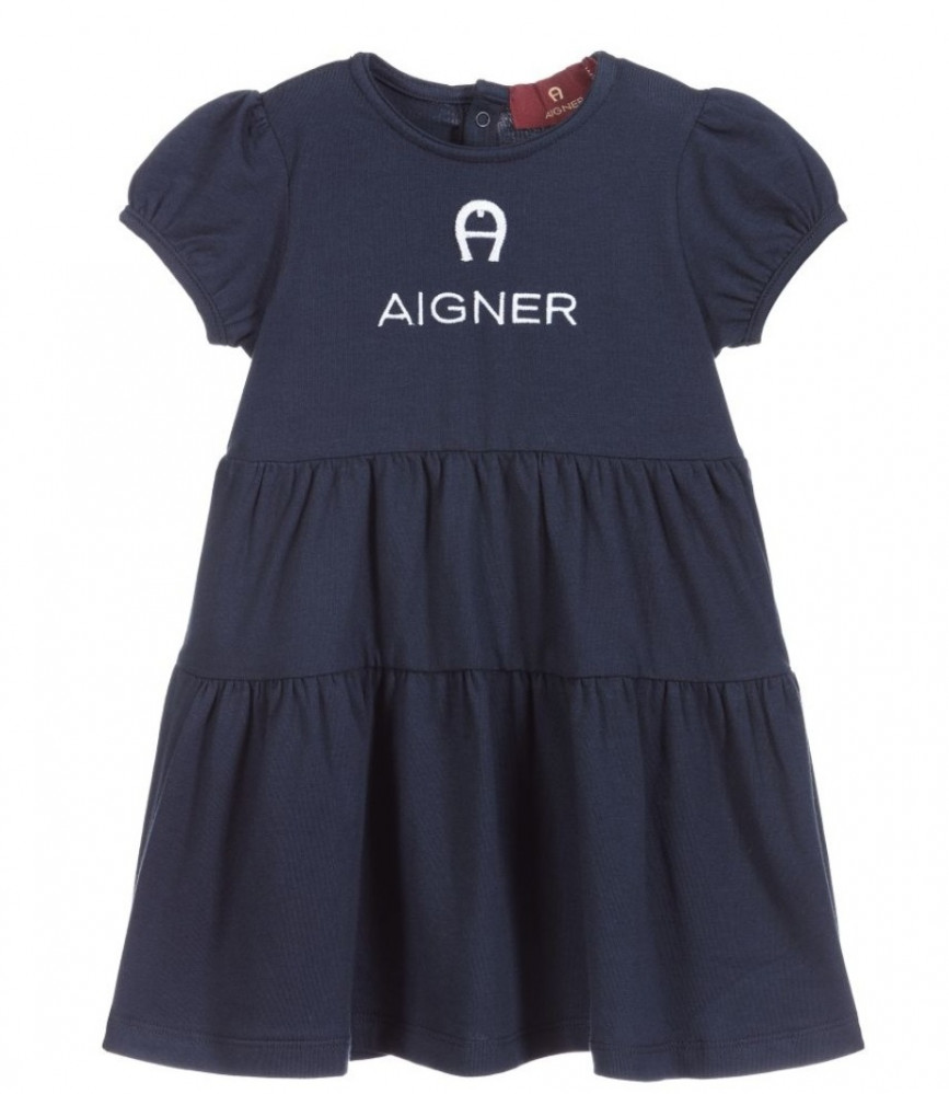 فستان باللون الكحلي من ماركة Aigner من دوها