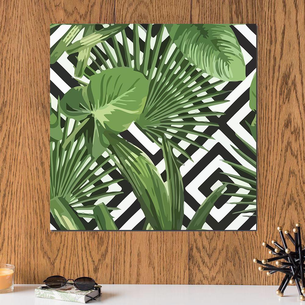 لوحة النبات خشب ام دي اف مقاس 30x30 سنتيمتر