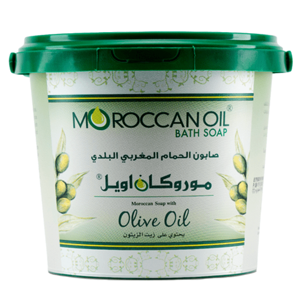 صابون الحمام المغربي البلدي بزيت الزيتون من موروكان اويل -850غ