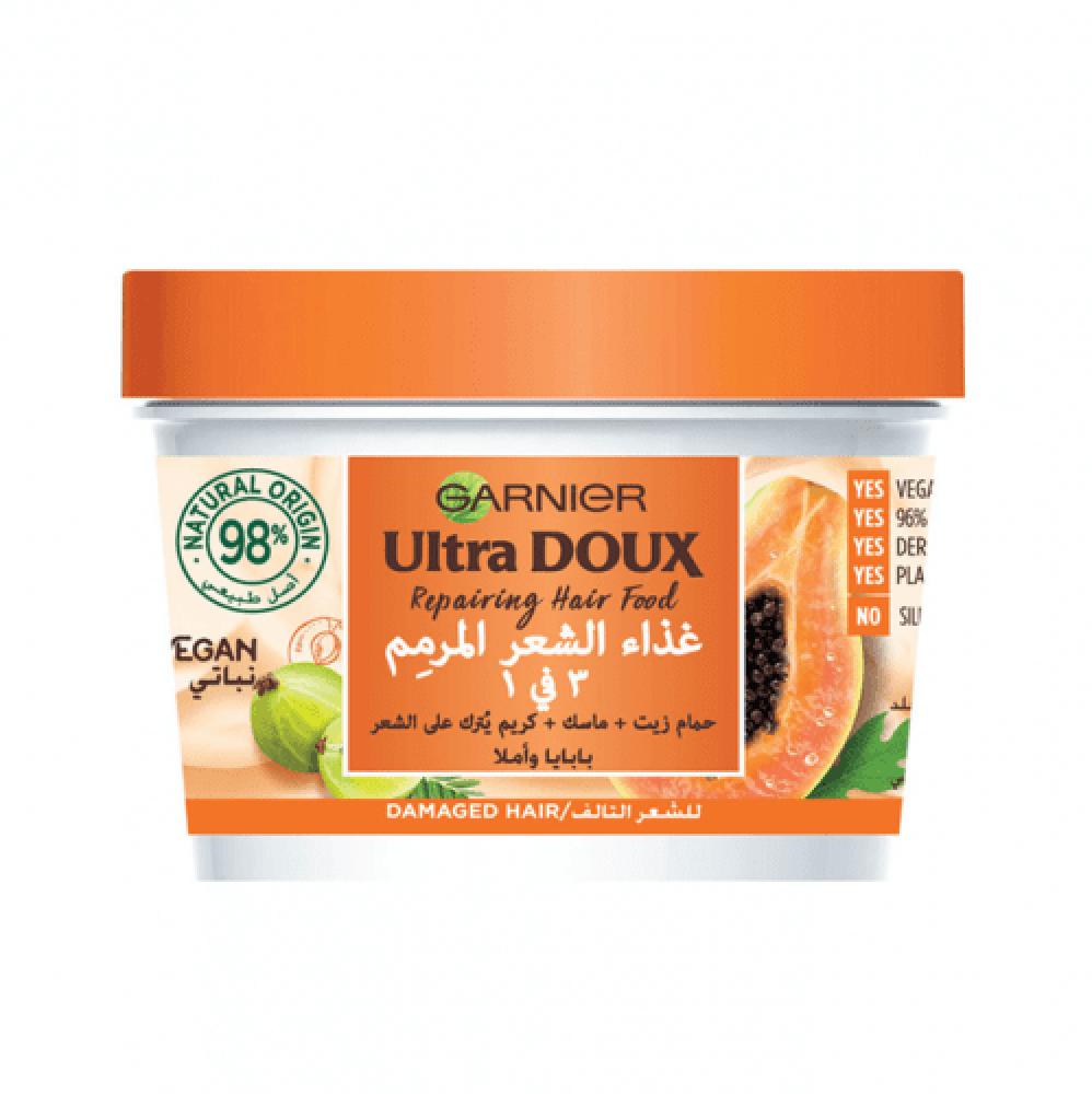 الترا دو غذاء الشعر المرمم 3 في 1 بالبابايا من قارنييه - 390مل