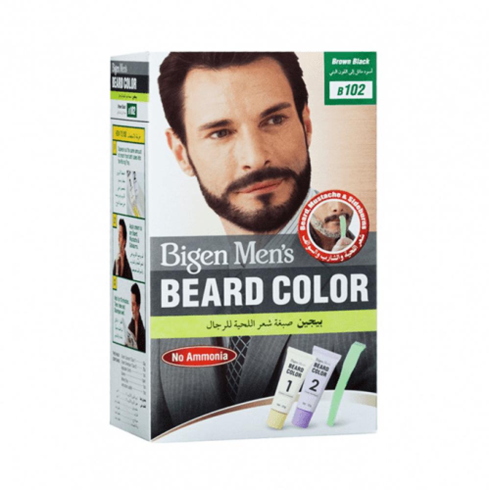 صبغة شعر اللحية للرجال من بيجين - اسود مائل الى اللون البني بي 102
