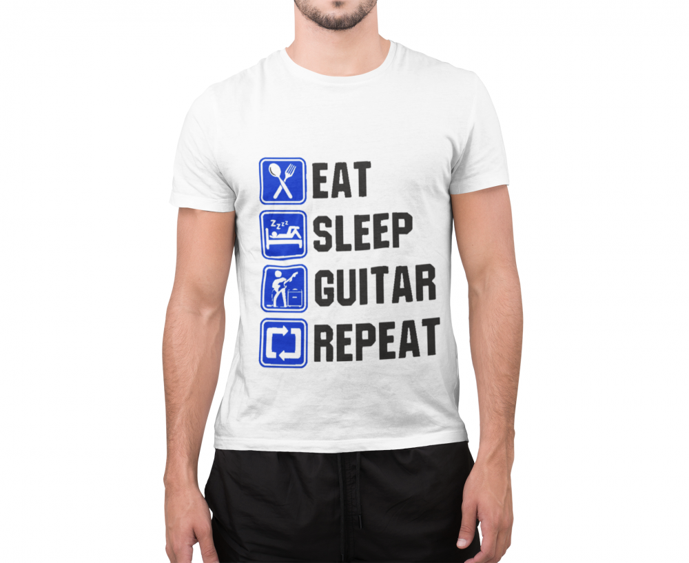 تصميم لعشاق الجيتار ابيض