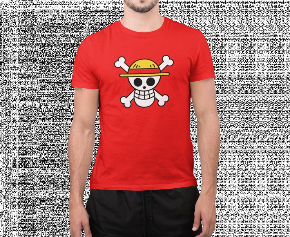 تيشرت قبعة القش احمر ون  بيس