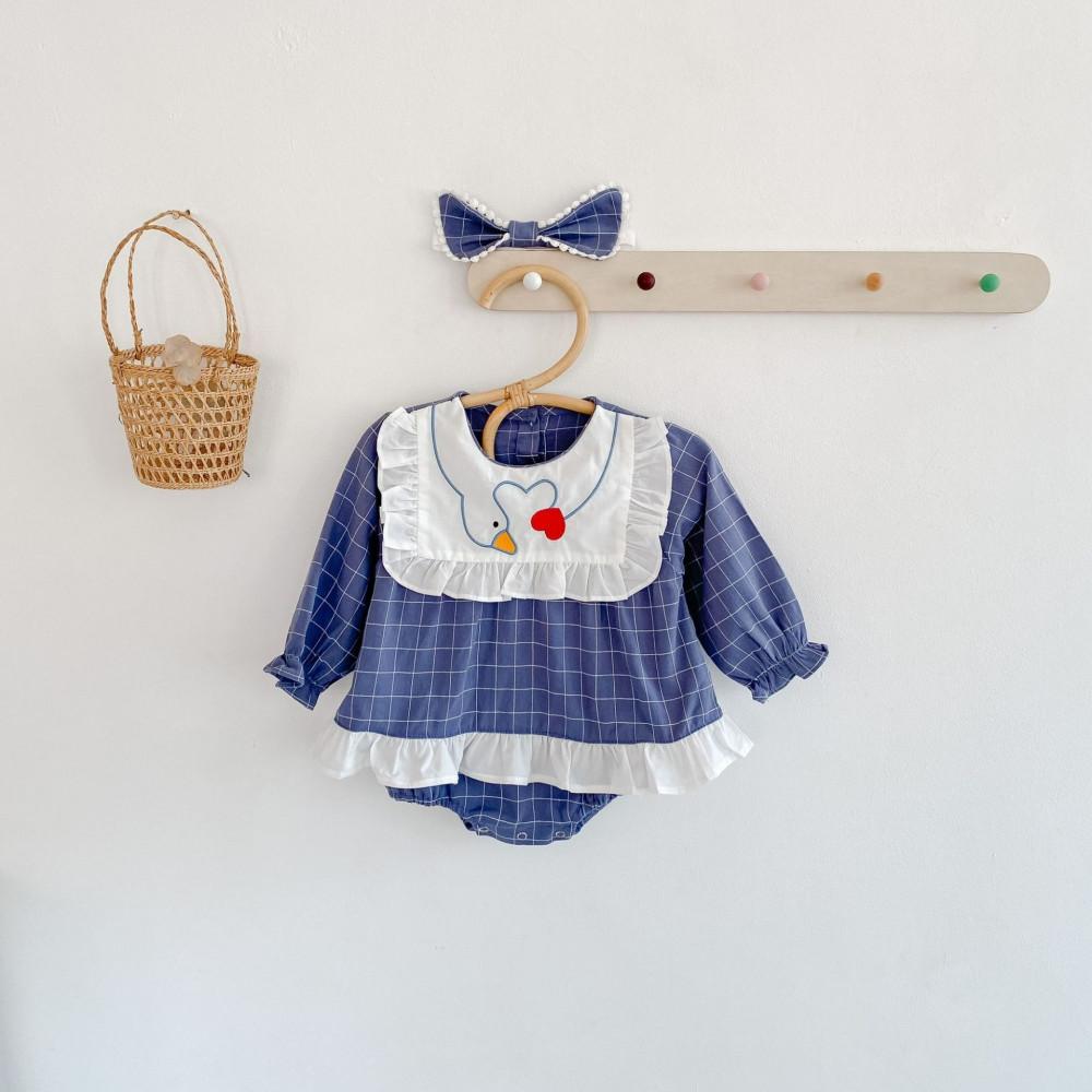 فستان برسمه مربعات