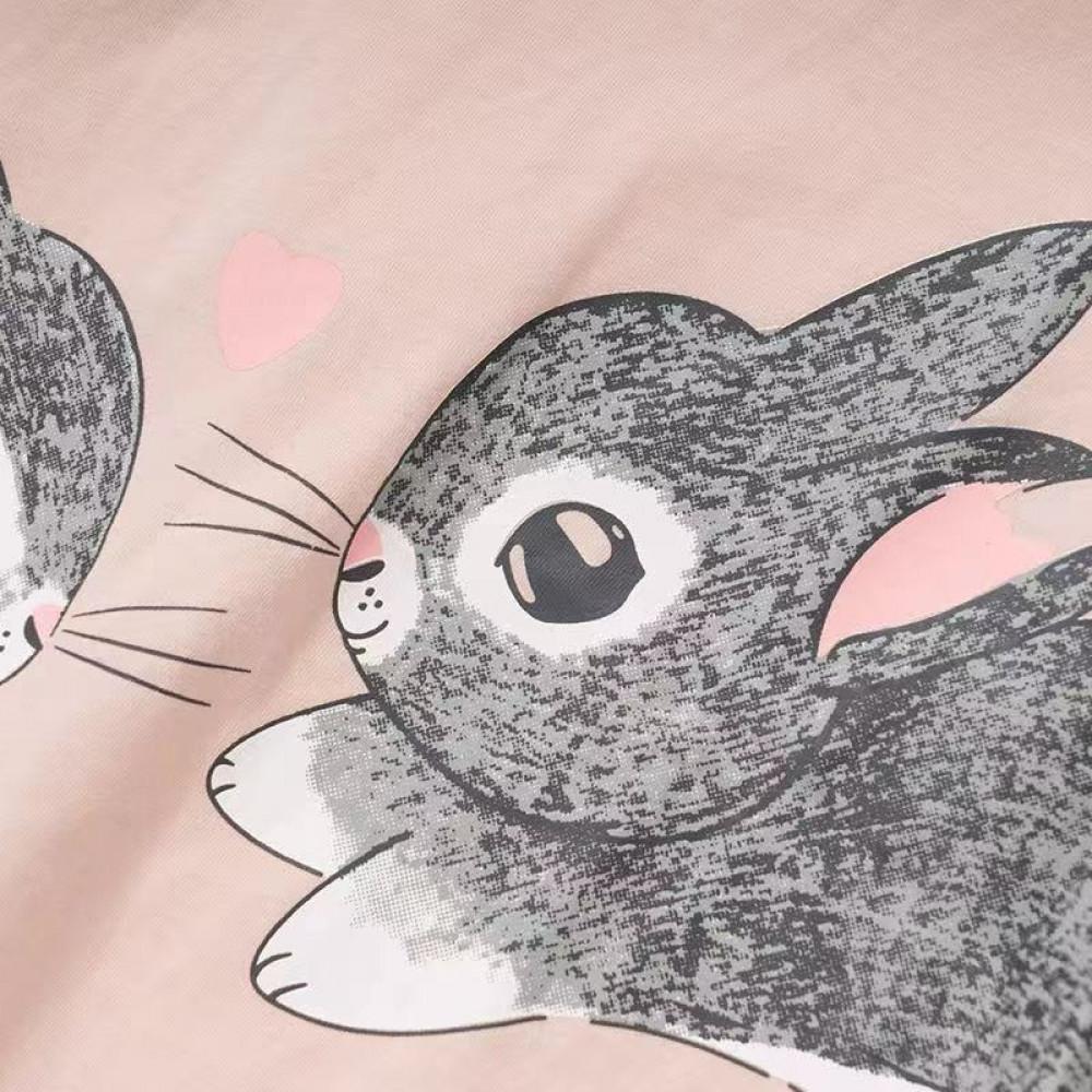 طقم بيجامة بطبعة ارنب