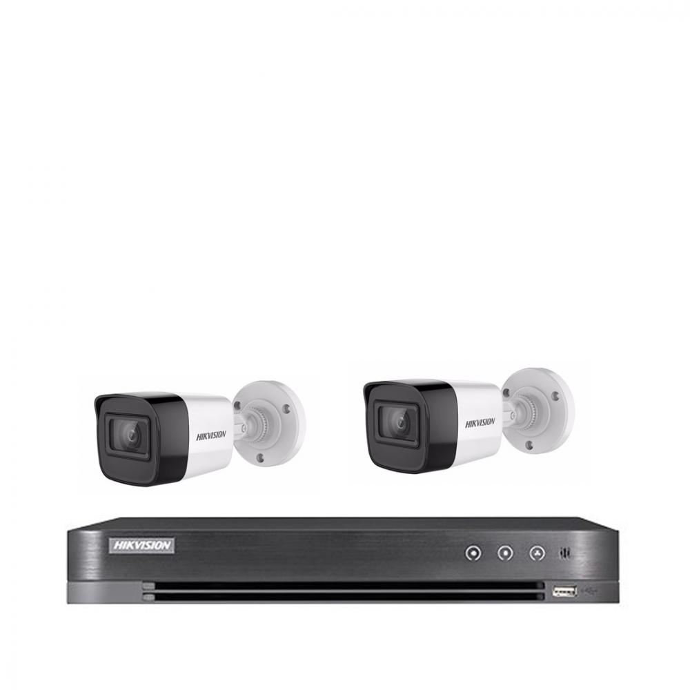 2 كاميرا 8 ميجـا - داخلية او خارجية مع جهاز تسجيل 4 قنوات