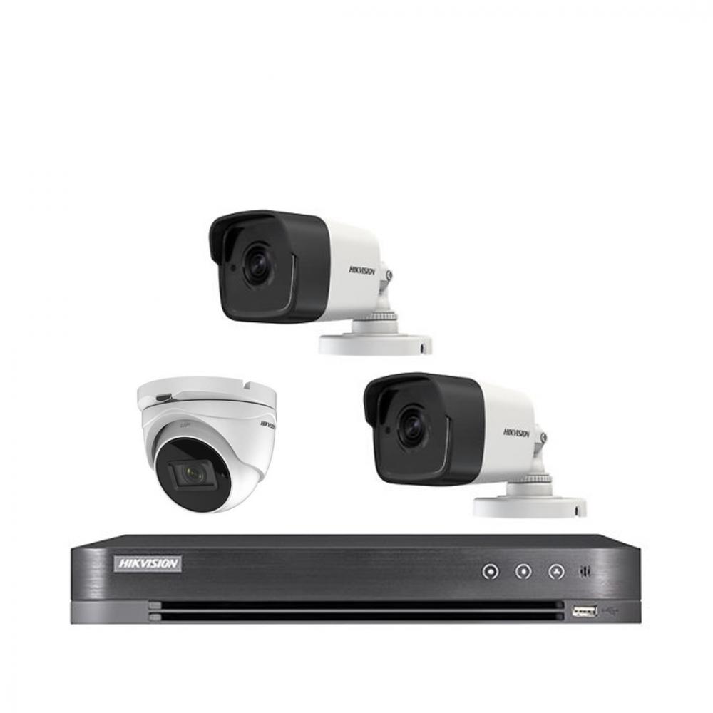 طقم 4 كاميرات 8 ميجا هيكفجن مع جهاز تسجيل 4 قنوات