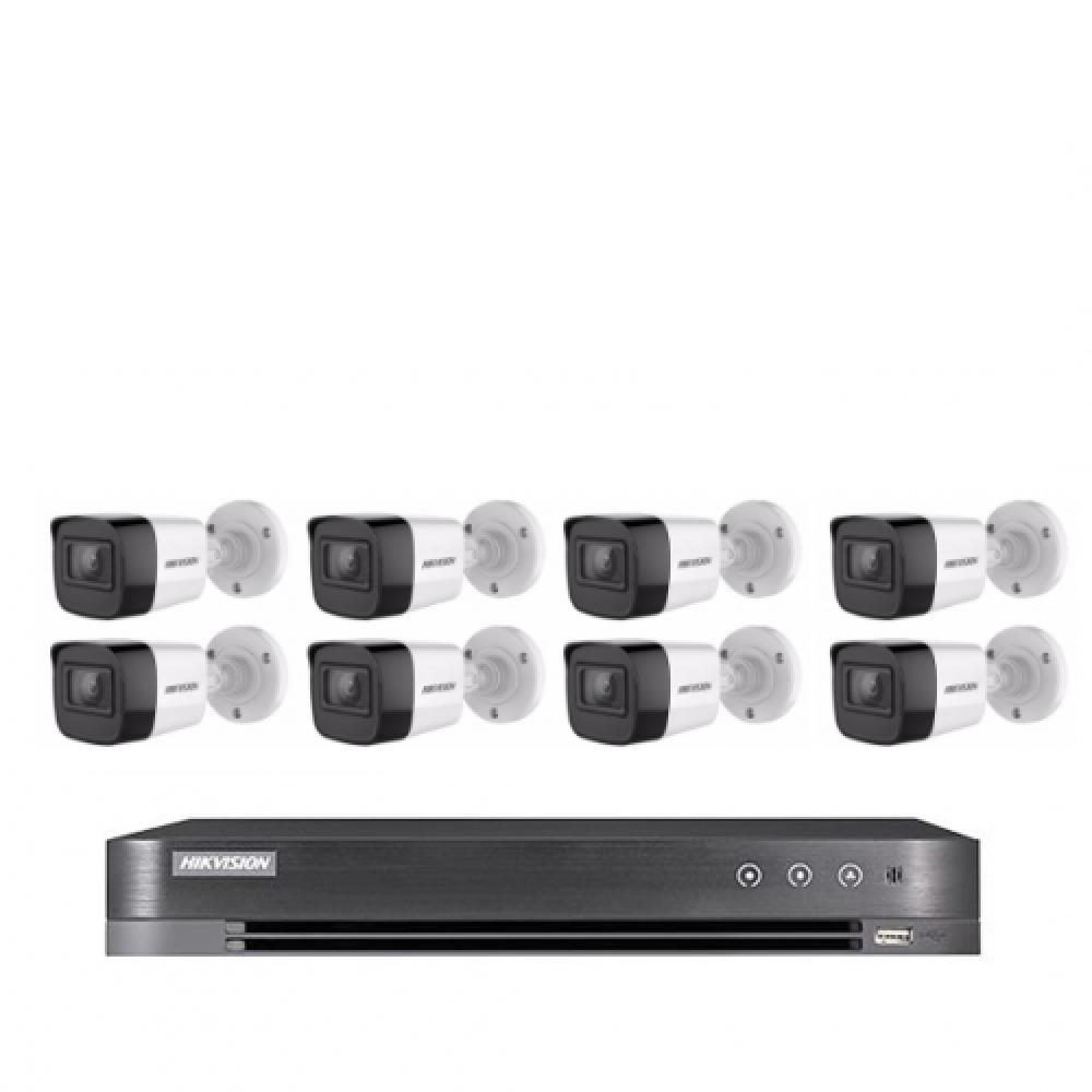 8 كاميرات 8 ميجـا - داخلية او خارجية مع جهاز تسجيل 8 قنوات  HD