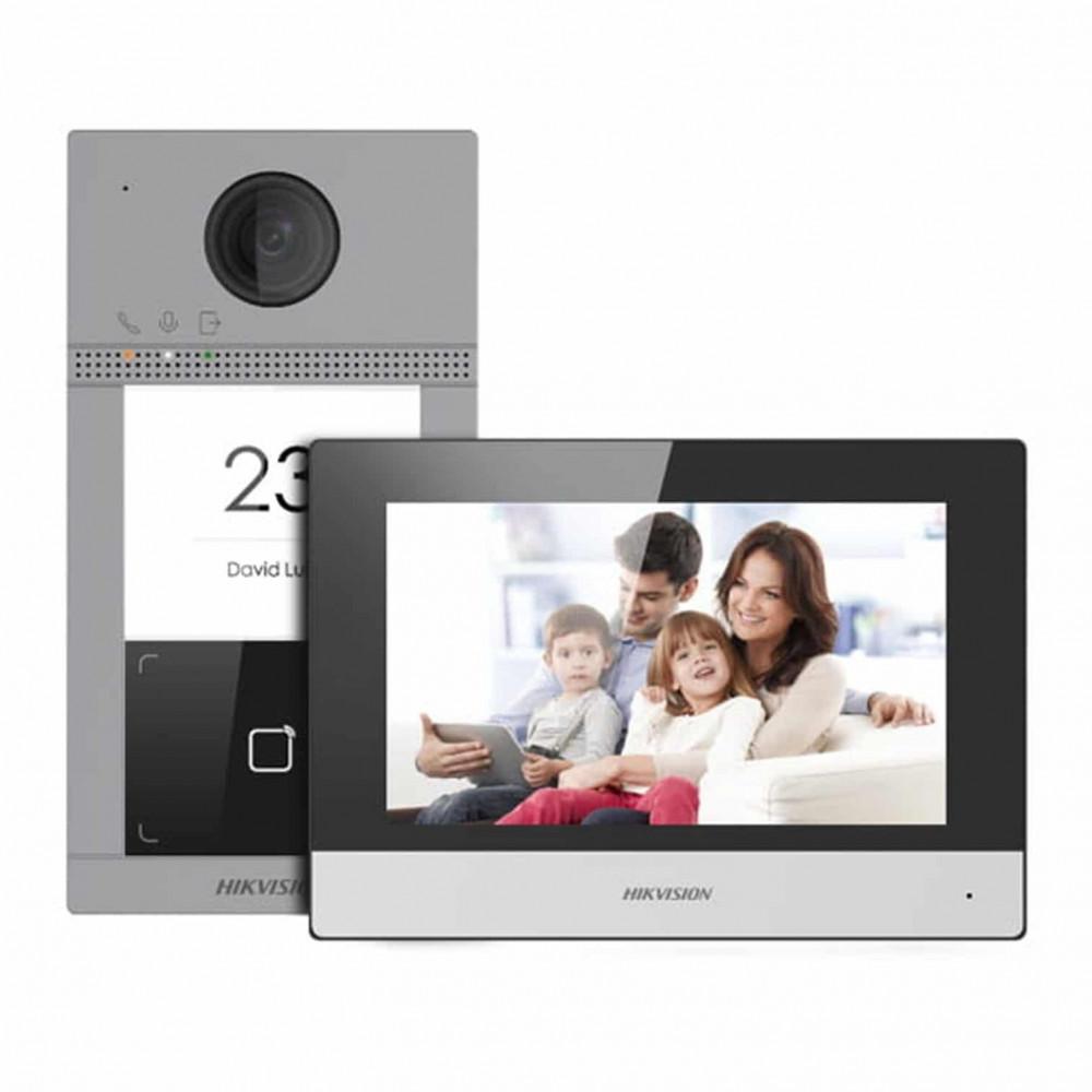 انتركوم اي بي هيكفجن موديل Hikvision IP video intercom kit DS-KIS604-P