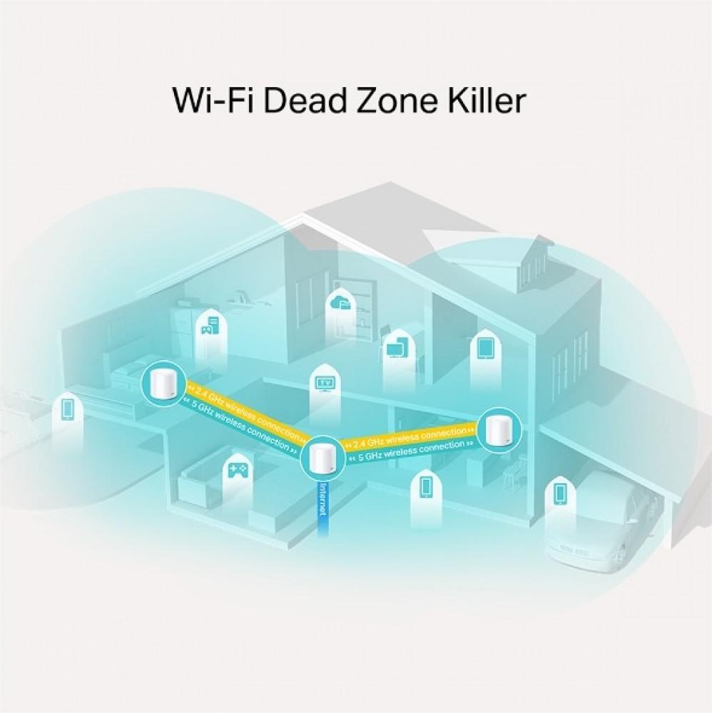 نظام واي فاي منزلي متكامل ديكو DECO-X20 AX1800 واي فاي 6 من تي بي لينك
