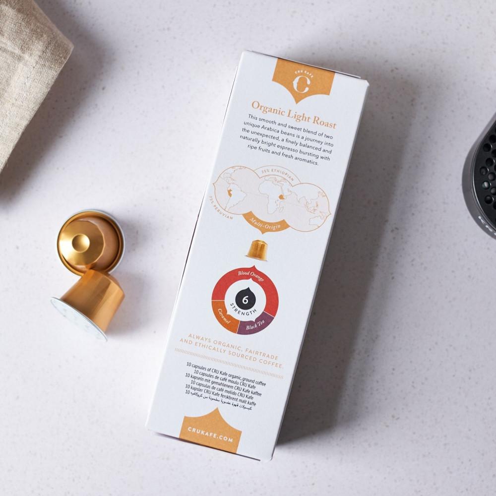 Crukafe كروكافيه قهوة اسبريسو تحميص فاتح كبسولات نسبريسو الأصلية Nespr
