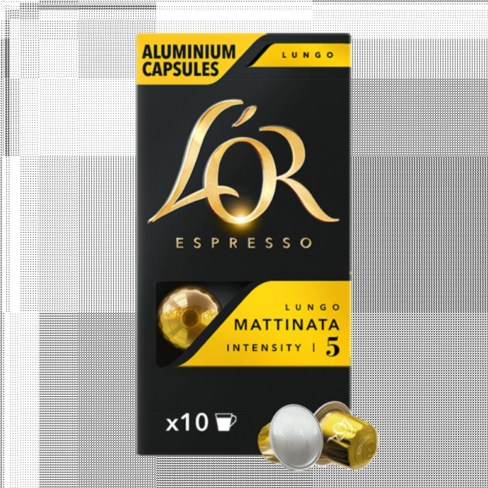 LOR قهوة لور لونغو ماتيناتا كبسولات نسبريسو الأصلية Nespresso