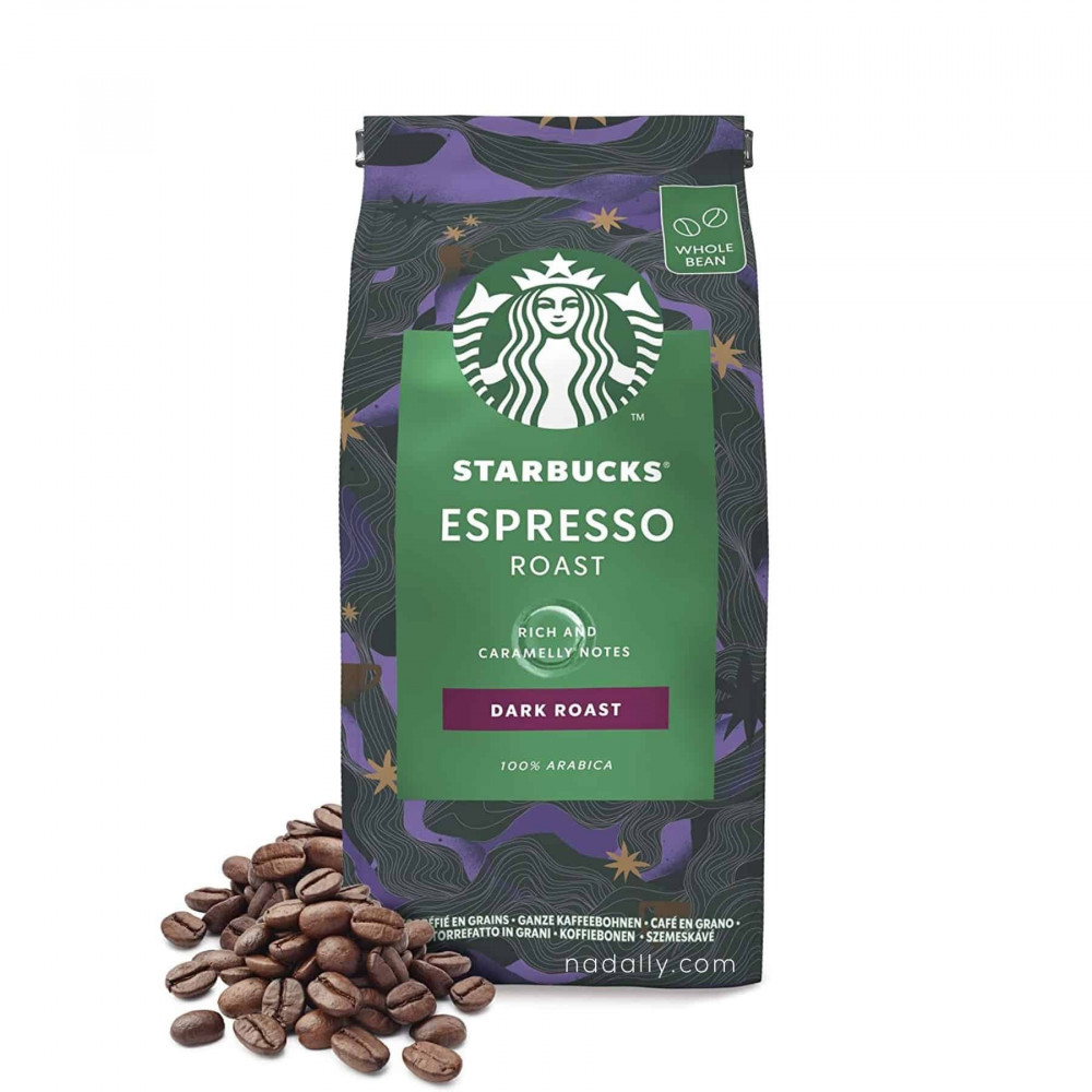 ستاربكس دارك روست حبوب قهوة كاملة