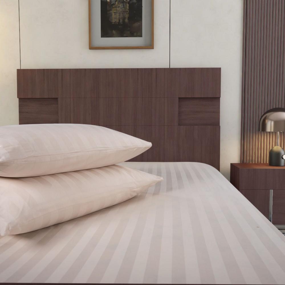سعر شرشف فندقي قطن مزدوج 3 قطع - لون كريمي - ميلين