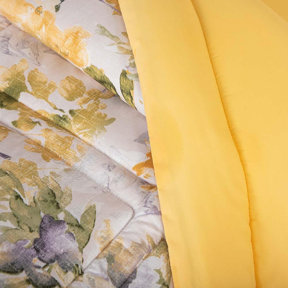 شراء مفرش صيفي 8 قطع كوين- إيزابيلا - اصفر و رمادي و ابيض - ميلين