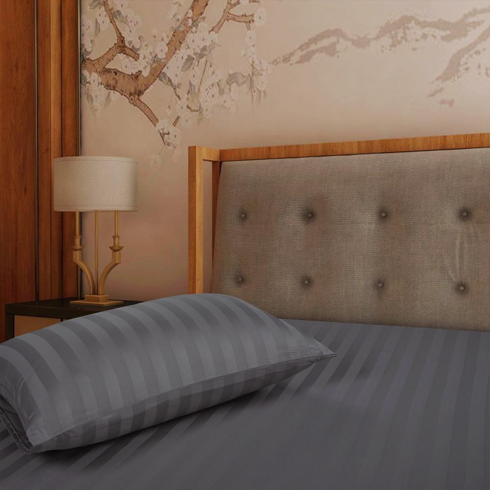 افضل شرشف فندقي قطن مفرد ونص 2 قطعه - رمادي - ميلين
