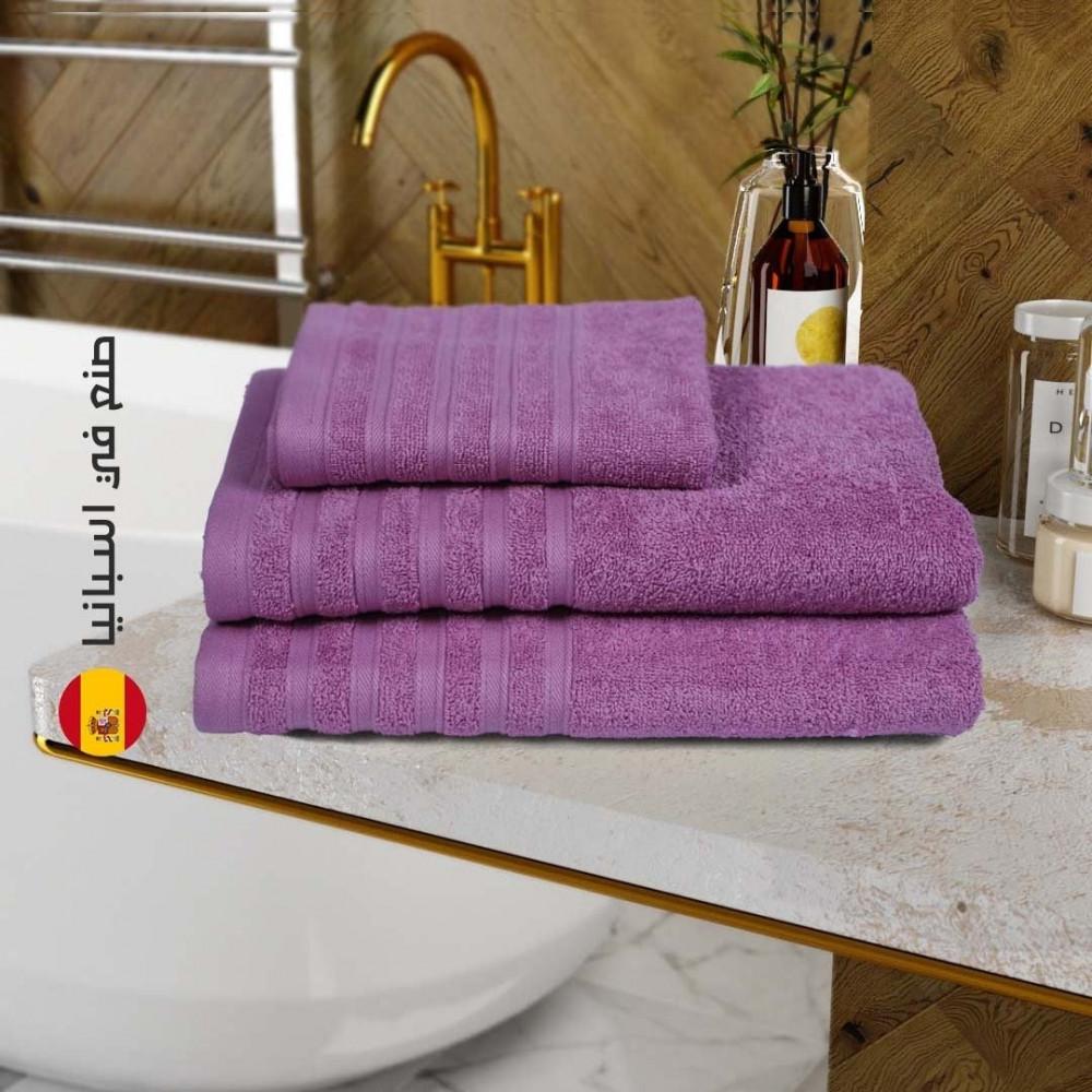 منشفة قطن اسبانية - بنفسجي - متجر مفارش ميلين