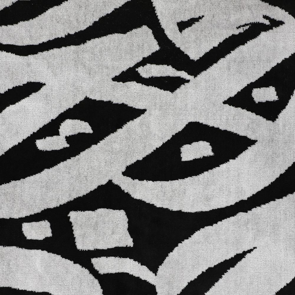 سجادة صلاة أشبيليا - أسود مع رصاصي - مفارش ميلين
