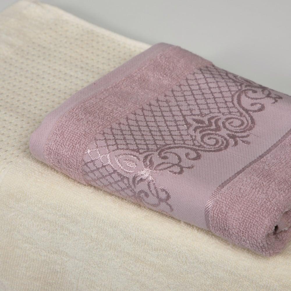 شراء طقم ارواب استحمام 10 قطعة - جيندا - سكري وزهري - مفارش ميلين