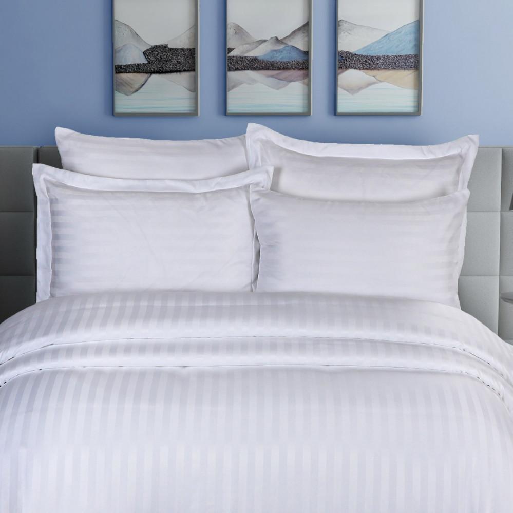 مفرش فندقي مزدوج 7 قطع - لينور - أبيض - مفارش ميلين